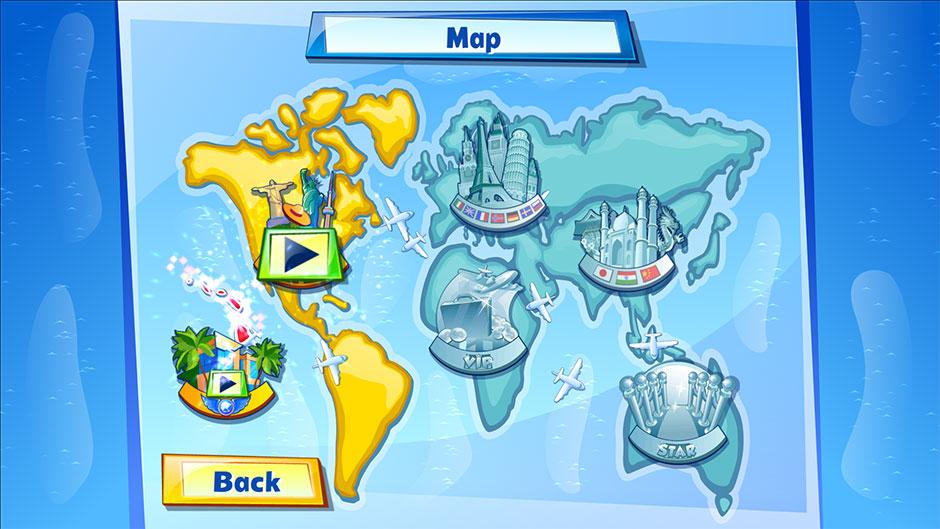 Sky Crew Platinum Edition world map