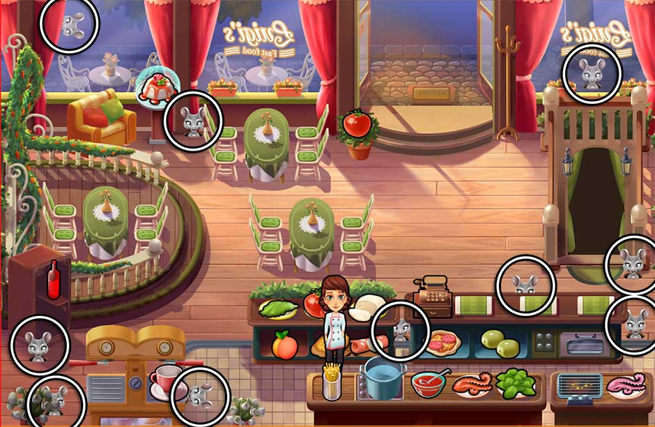 Mary le Chef - Cooking Passion - Mouse Locations - Luigi's Restaurant