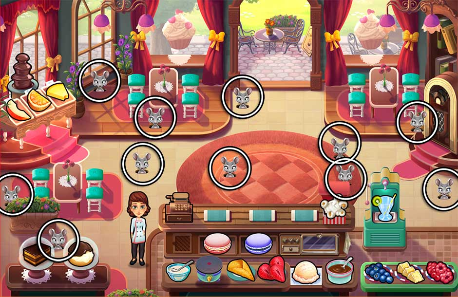 Mary le Chef - Cooking Passion - Mouse Locations - Sophie's Restaurant