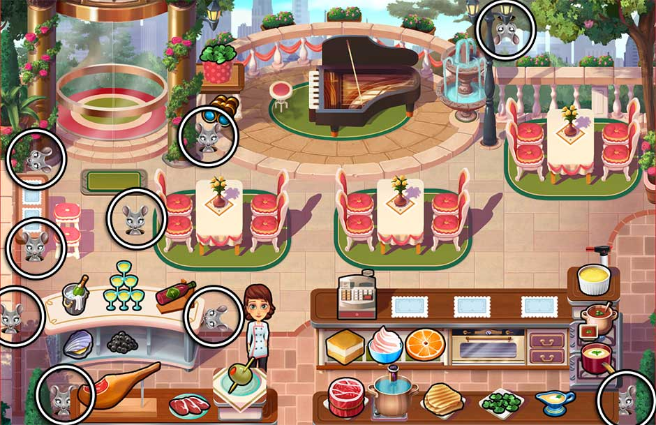 Mary le Chef - Cooking Passion - Mouse Locations - Steve's Restaurant