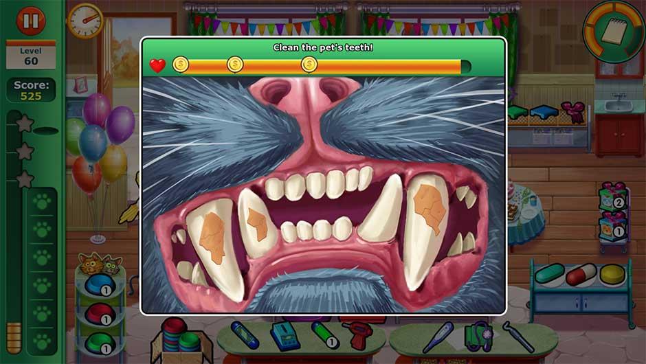 Minigame - Clean the pet's teeth!