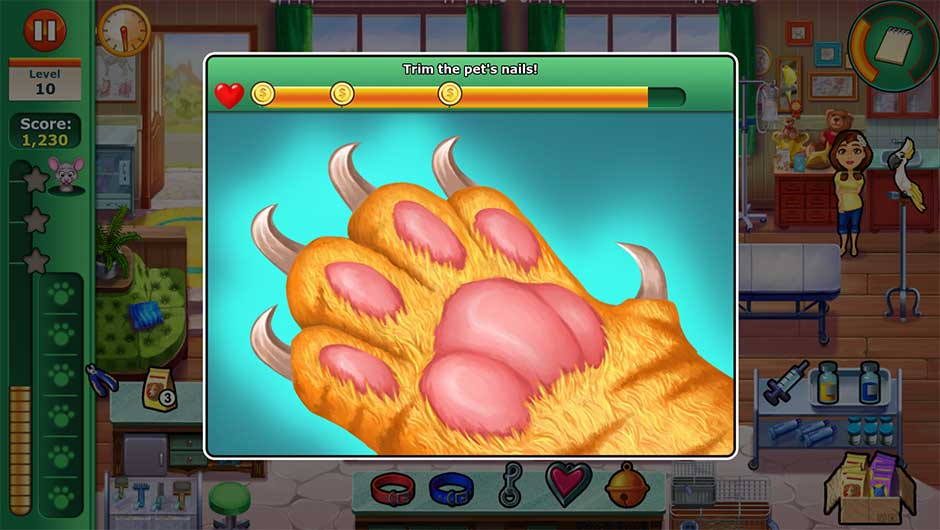 Minigame - Trim the pet's nails!