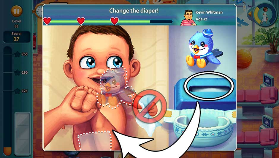 Minigame - Change the diaper!
