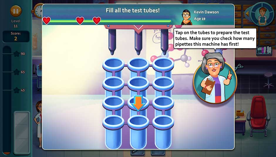 Minigame - Fill all the test tubes!