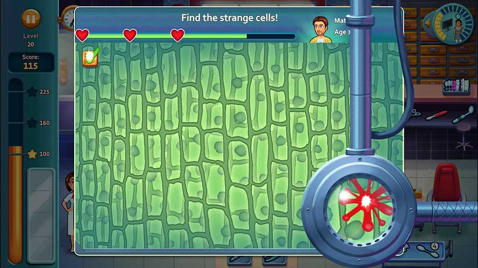 Minigame - Find the strange cells!
