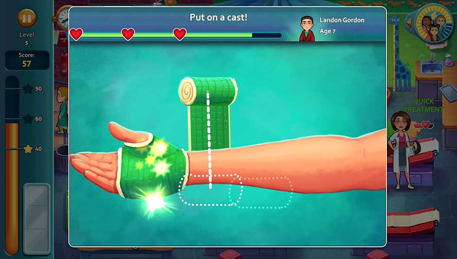 Minigame - Put on a cast!