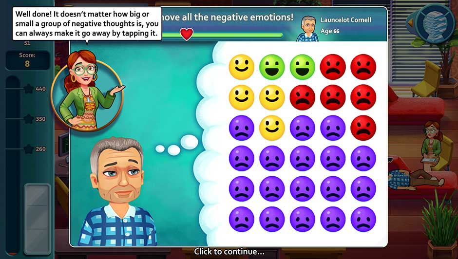 Minigame - Remove all the negative emotions!