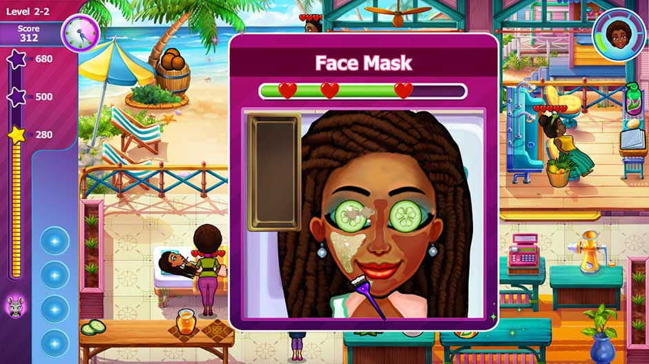 Sally's Salon - Beauty Secrets - Face Mask Minigame