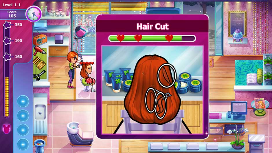 Sally's Salon - Beauty Secrets - Hair Cut Minigame