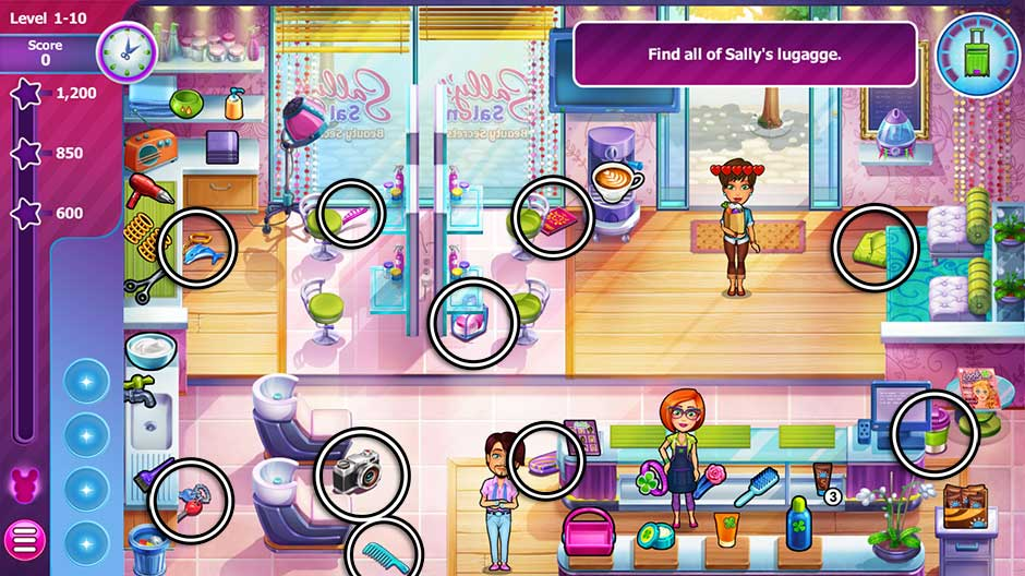 Sally's Salon - Beauty Secrets - Level 1-10