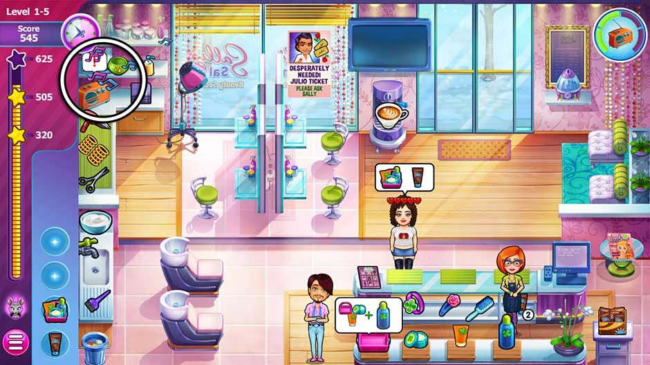 Sally's Salon - Beauty Secrets - Level 1-5