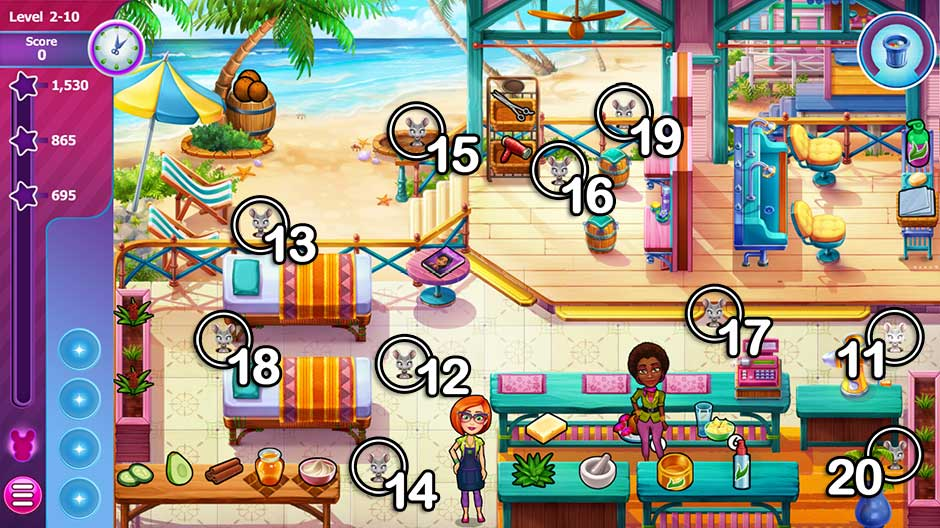 Sally's Salon - Beauty Secrets - Mice Locations Chapter 2 - Bahamas