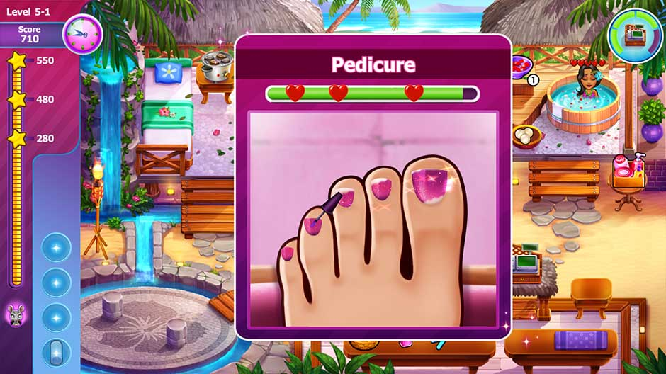 Sally's Salon - Beauty Secrets - Pedicure Minigame