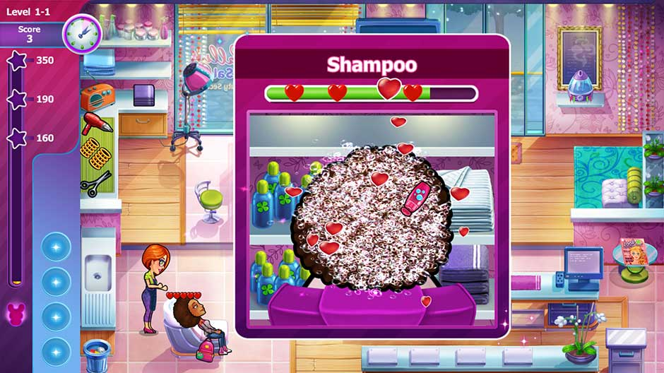 Sally's Salon - Beauty Secrets - Shampoo Minigame