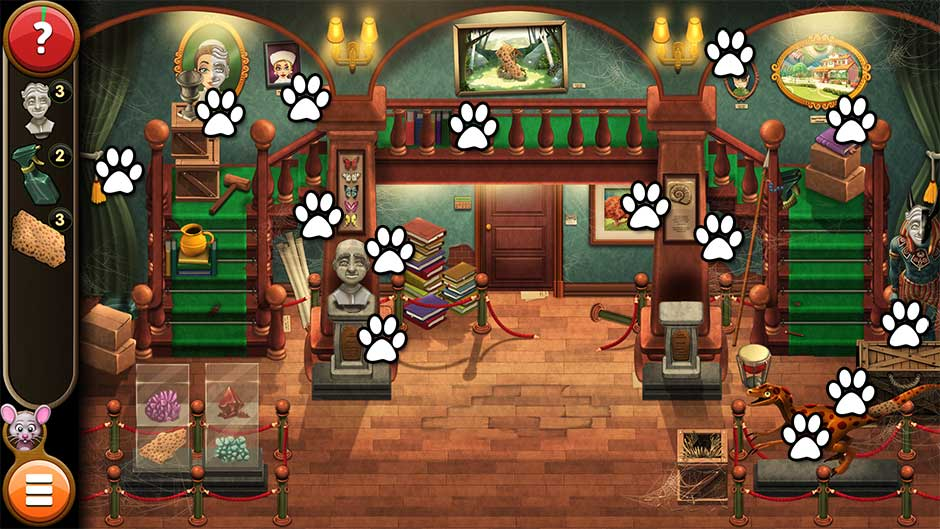 Mortimer Beckett and the Book of Gold - Mouse Locations Level 1
