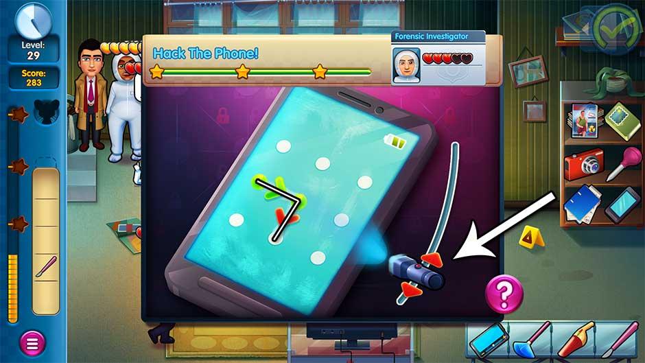 Parker & Lane - Criminal Justice - Minigame - Hack the Phone!