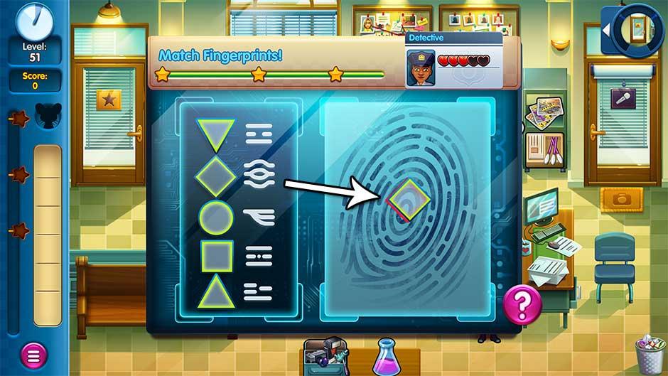 Parker & Lane - Criminal Justice - Minigame - Match Fingerprints!