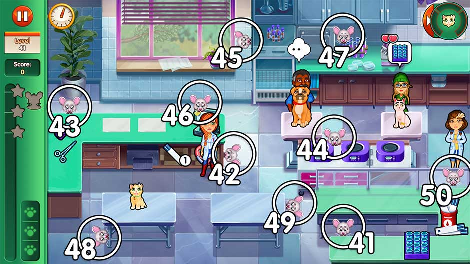 Dr. Cares - Amy's Pet Clinic - Chapter 5 Mouse Locations - Levels 41 - 50