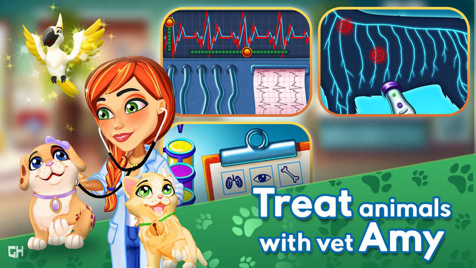 Dr. Cares - Amy's Pet Clinic Collector's Edition - GameHouse Screenshot-2