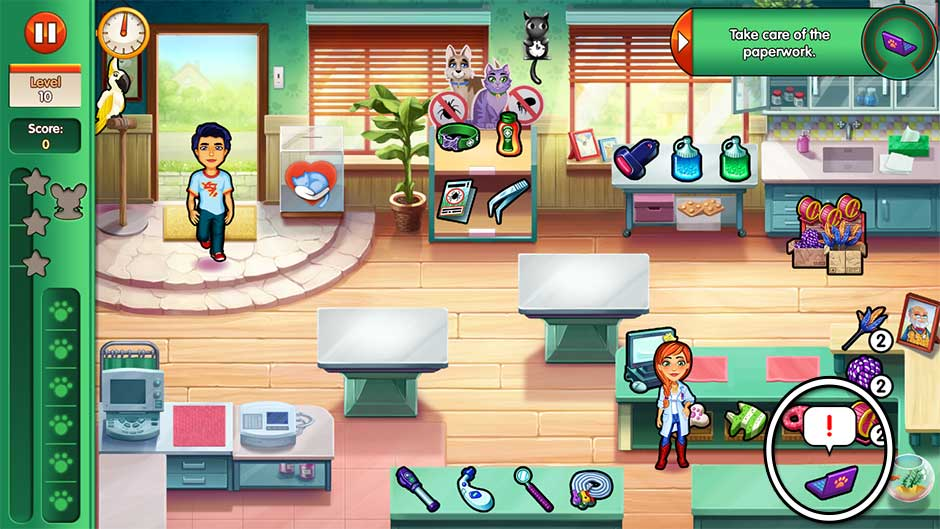 Dr. Cares - Amy's Pet Clinic - Level 10