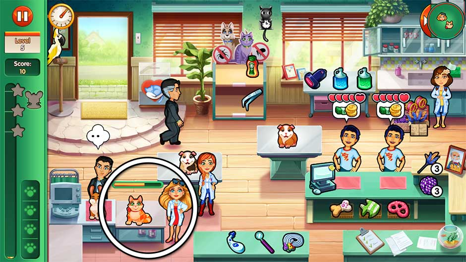 Dr. Cares - Amy's Pet Clinic - Level 5