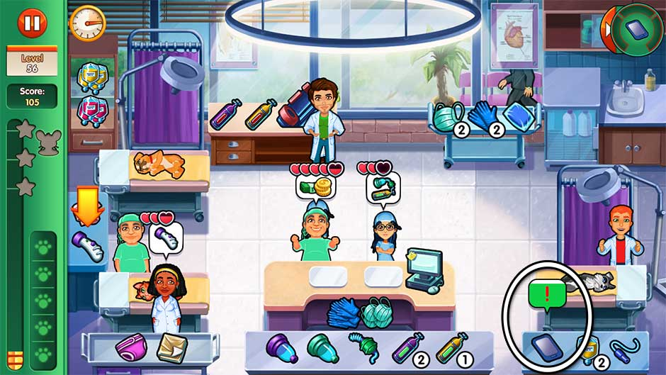 Dr. Cares - Amy's Pet Clinic - Level 56