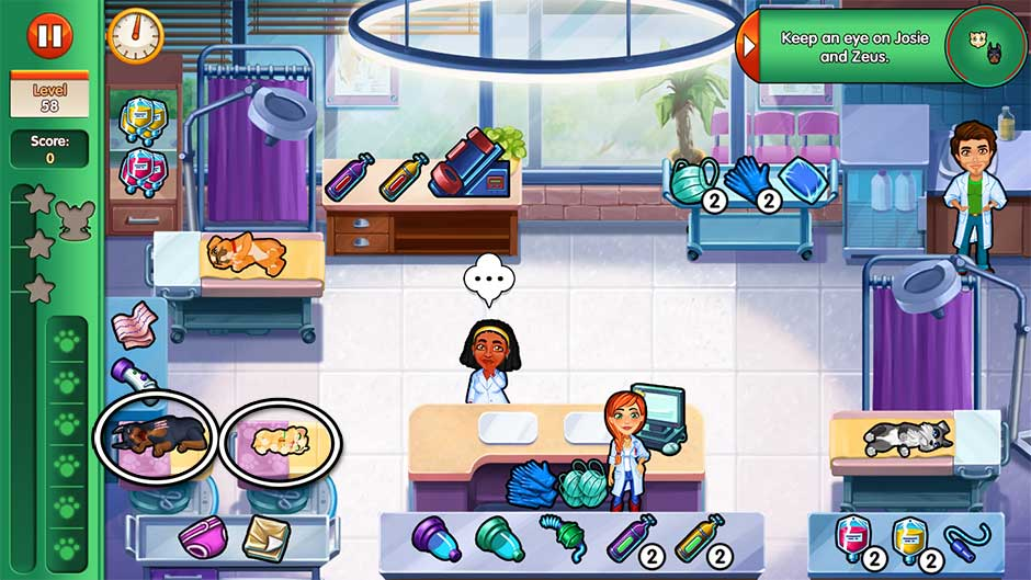Dr. Cares - Amy's Pet Clinic - Level 58