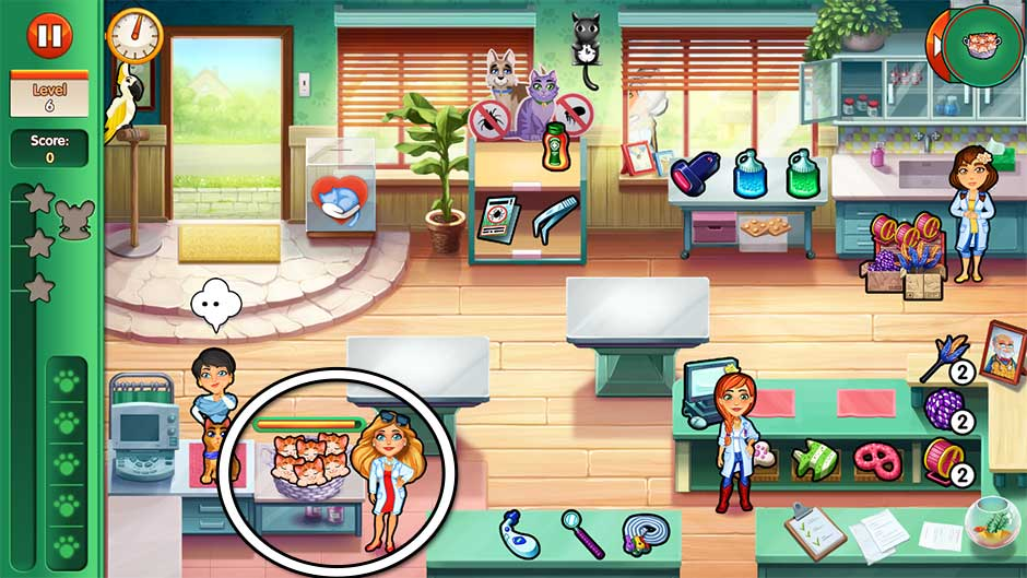 Dr. Cares - Amy's Pet Clinic - Level 6