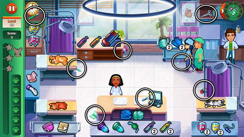 Dr. Cares - Amy's Pet Clinic - Level 60