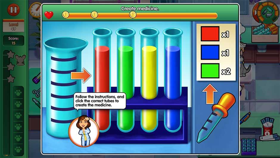 Dr. Cares - Amy's Pet Clinic - Minigame - Create Medicine!