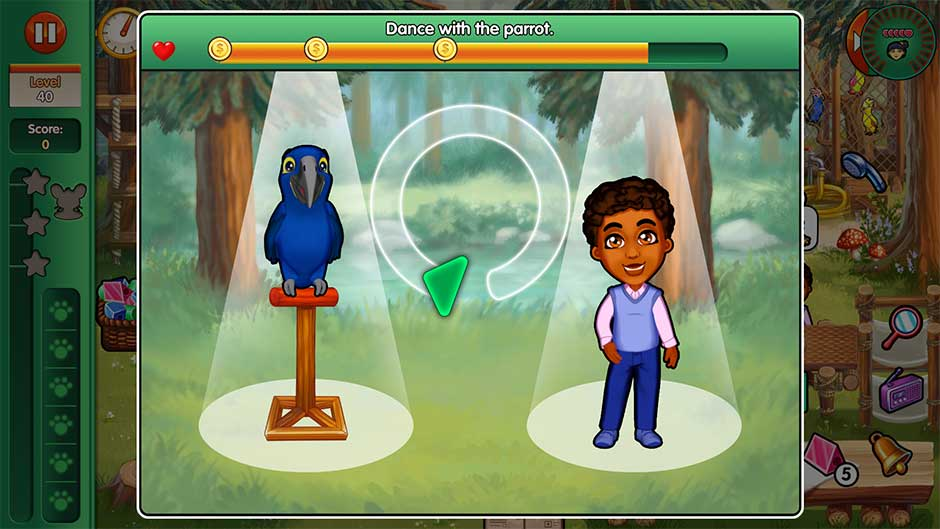 Dr. Cares - Amy's Pet Clinic - Minigame - Dance with the parrot!