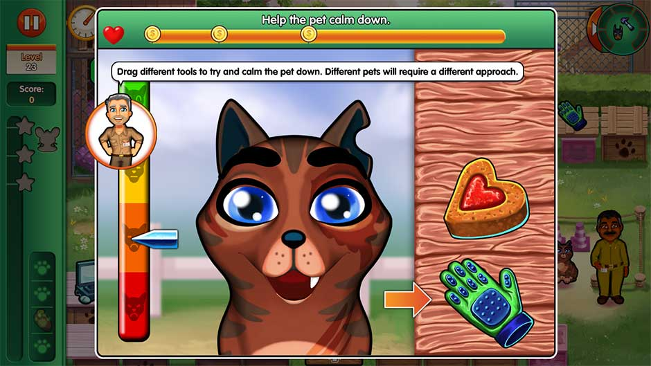 Dr. Cares - Amy's Pet Clinic - Minigame - Help the pet calm down!