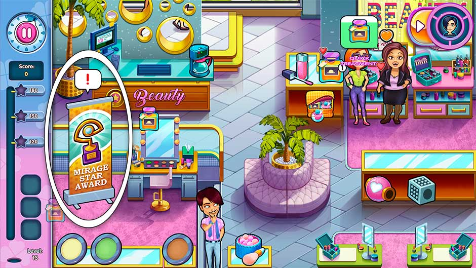 Sally's Salon - Kiss & Make-Up - Level 13