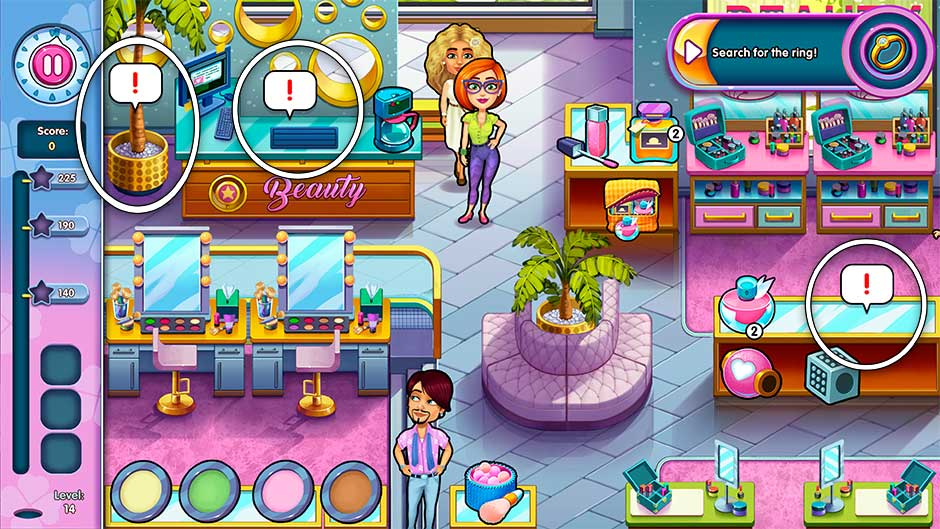Sally's Salon - Kiss & Make-Up - Level 14