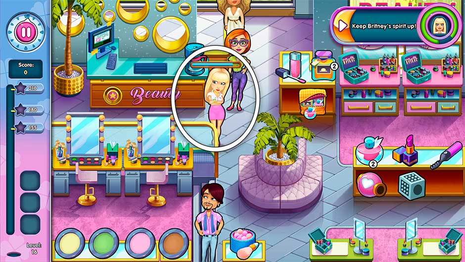 Sally's Salon - Kiss & Make-Up - Level 16