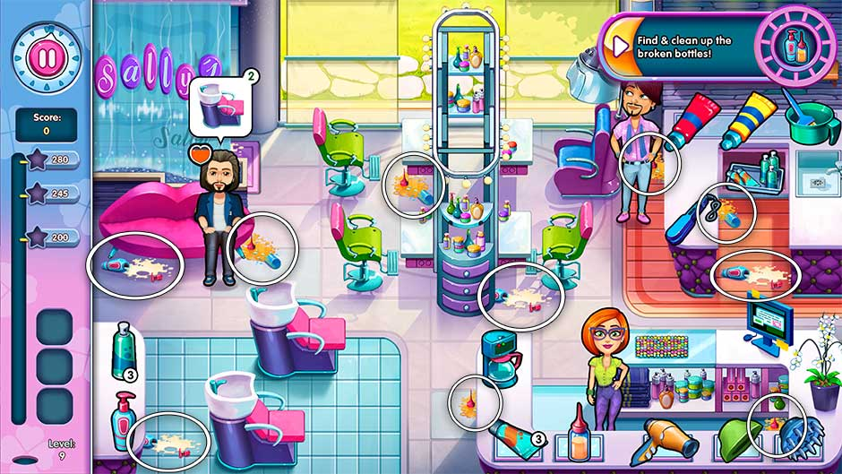 Sally's Salon - Kiss & Make-Up - Level 9