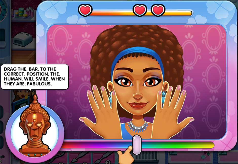 Sally's Salon - Kiss & Make-Up - Minigame - Apply Nail Polish