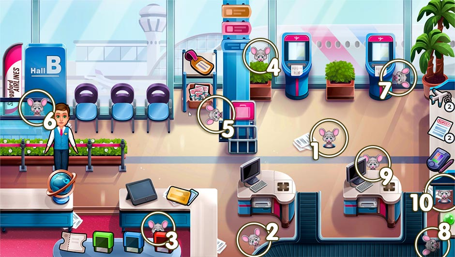 Amber's Airline - High Hopes Collector's Edition - Chapter 1 Mouse Locations - Levels 1 - 10