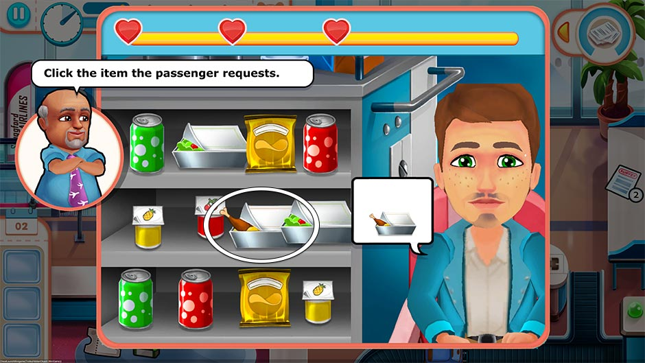 Amber's Airline - High Hopes Collector's Edition - Food Cart Minigame