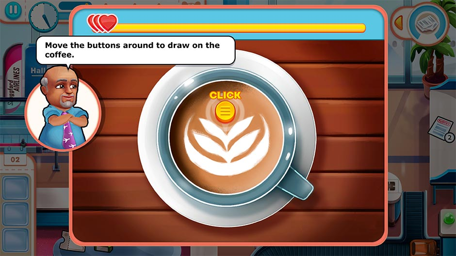 Amber's Airline - High Hopes Collector's Edition - Latte Art Minigame