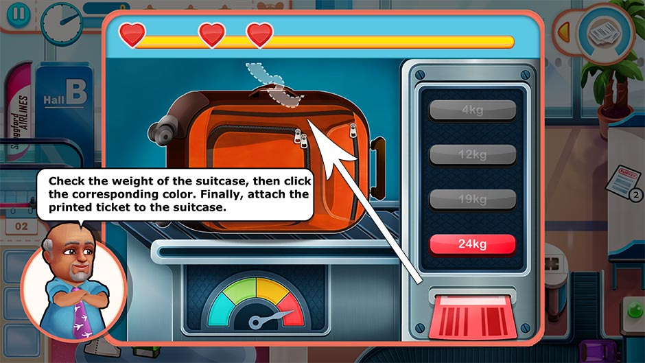Amber's Airline - High Hopes Collector's Edition - Luggage Weight Minigame