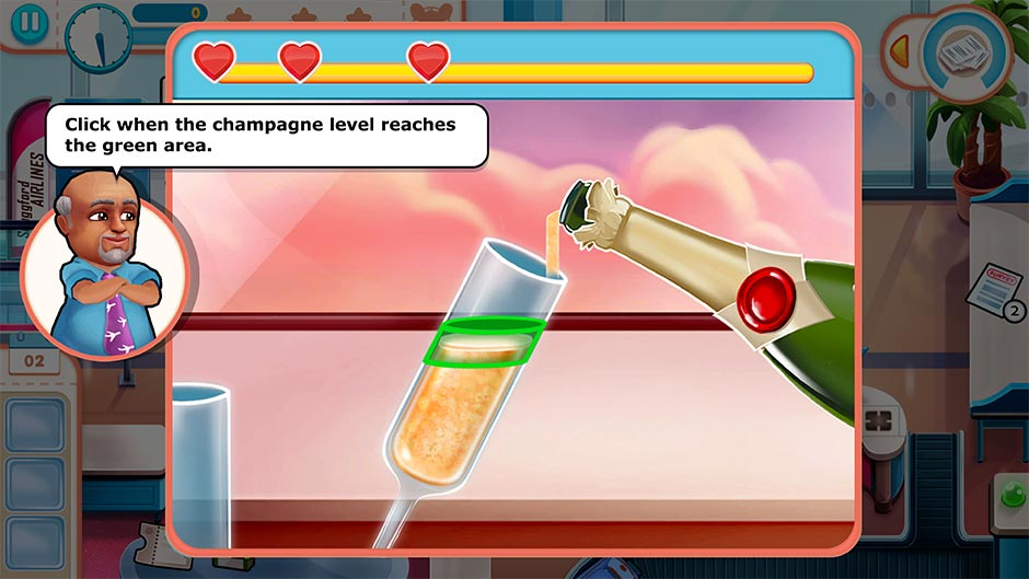 Amber's Airline - High Hopes Collector's Edition - Pour Champagne Minigame