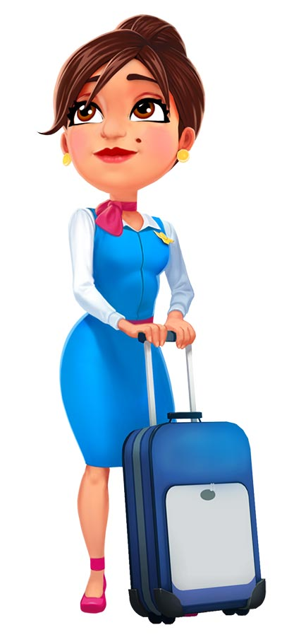 Amber's Airline - High Hopes Official Walkthrough - Art_AmberWithSuitcase