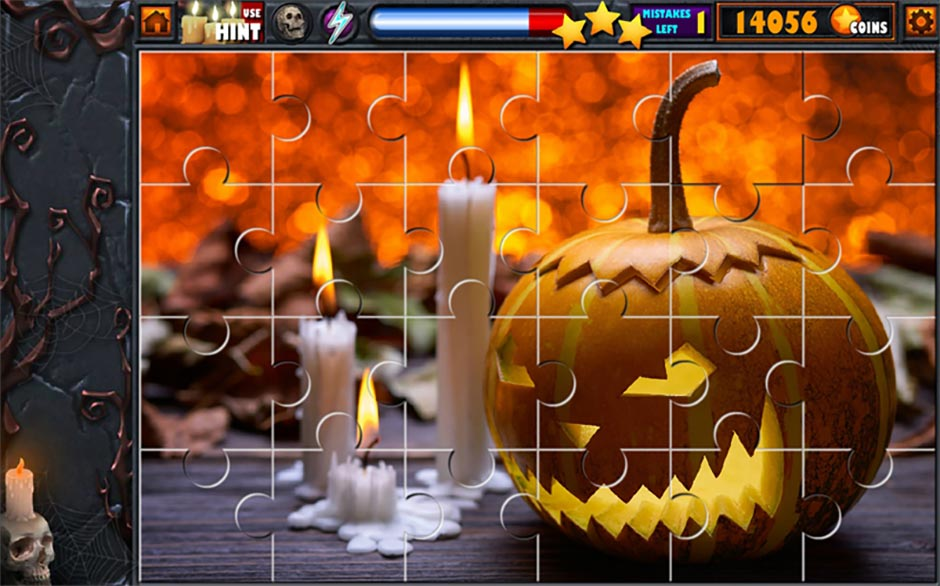 Halloween Jigsaw Puzzle Stash - GameHouse