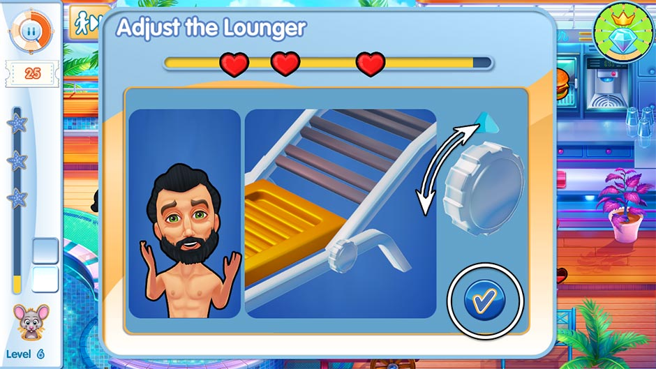 The Love Boat - Second Chances Minigame - Adjust the Lounge Chair