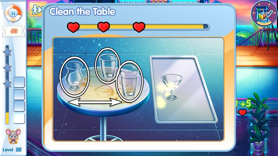 The Love Boat - Second Chances Minigame - Clean the Table