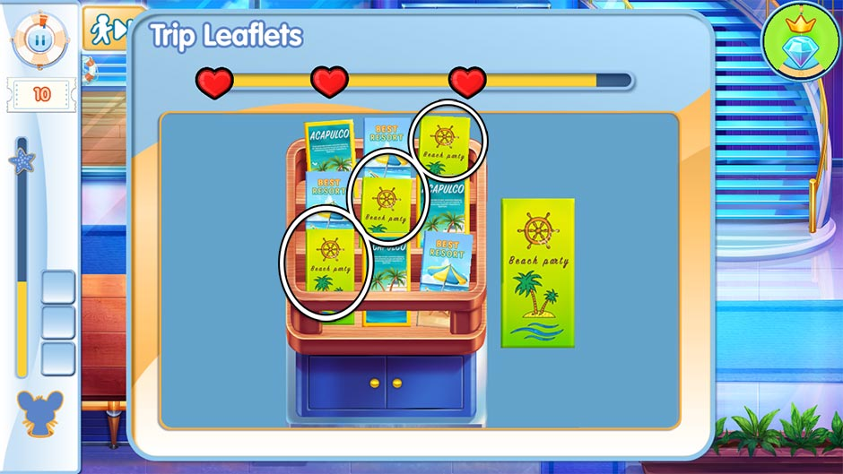 The Love Boat - Second Chances Minigame - Match the Trip Brochures