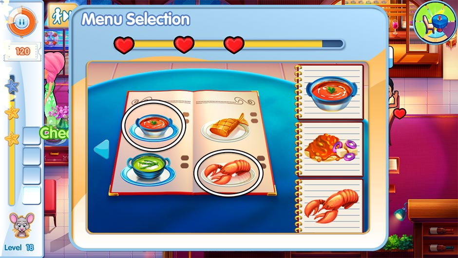 The Love Boat - Second Chances Minigame - Menu Selection