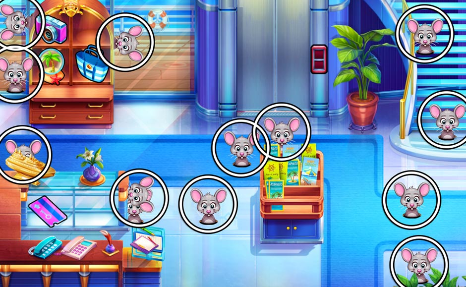 The Love Boat - Second Chances Mouse Locations - Lobby