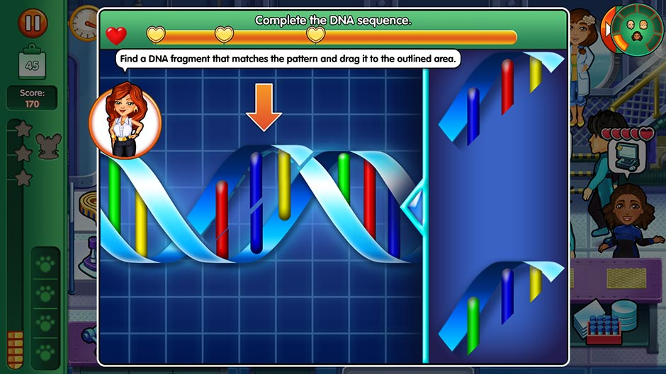 Dr. Cares - Family Practice Collector's Edition - Minigame - Complete the DNA Sequence